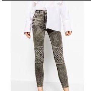 Zara premium denim biker jeans